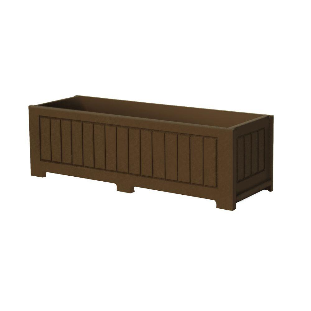 Eagle One Catalina 34 in. x 12 in. Brown Recycled Plastic Commercial Grade Planter Box
