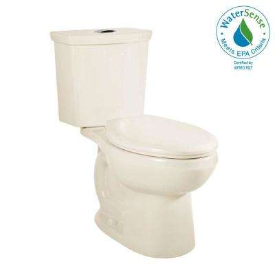 H2Option Chair Height 2-piece 0.92/1.28 GPF Dual Flush Elongated Toilet with Liner in Linen