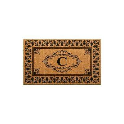 mat monogrammed door estate x welcome handmade mats nuloom pin