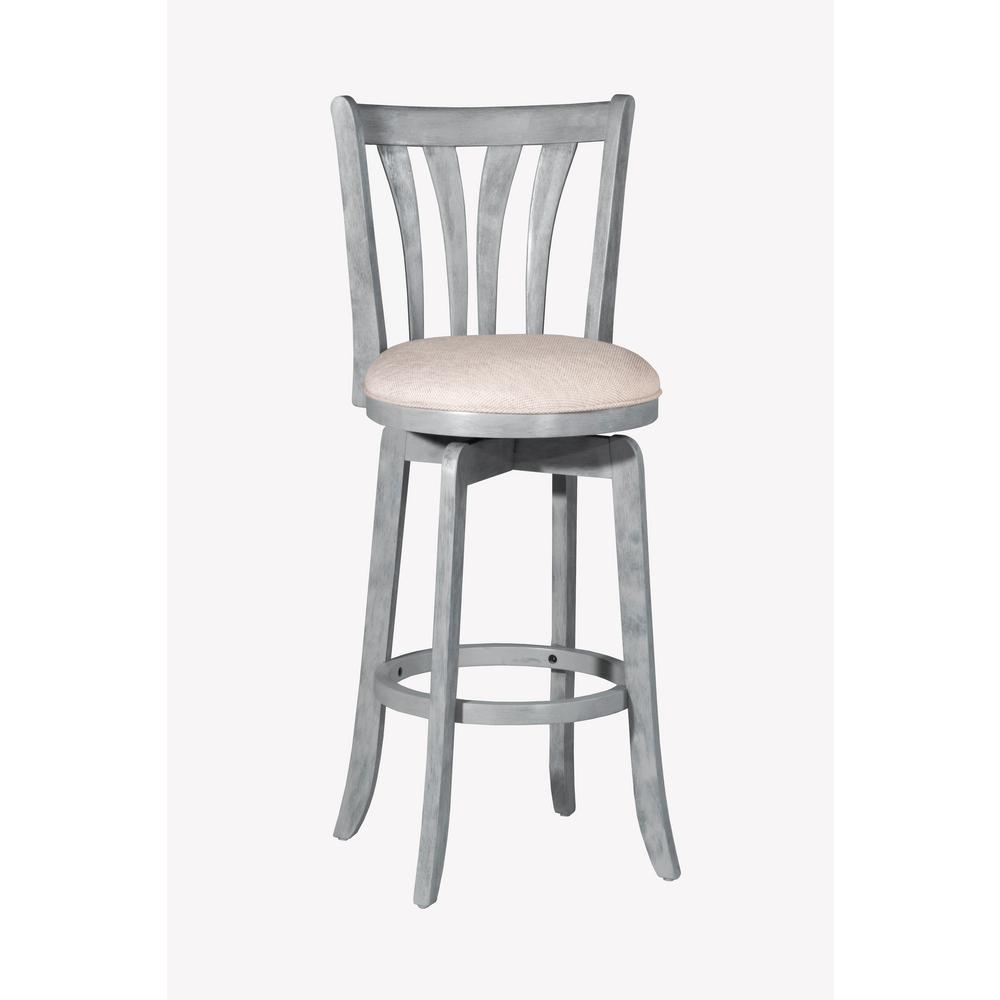 H blue wire brushed swivel counter bar stool