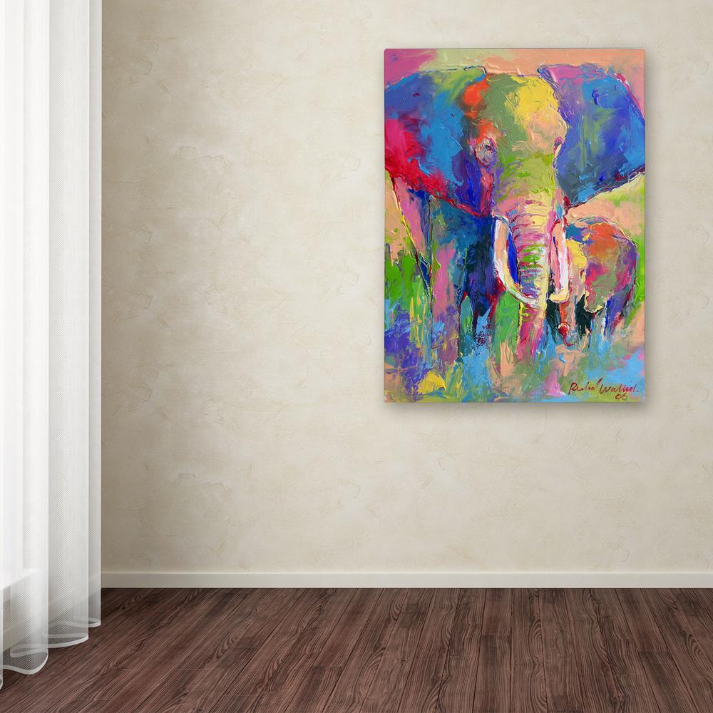 Trademark Fine Art 32 In X 24 In Elephant 1 By Richard Wallich Printed Canvas Wall Art Ali0338 C2432gg The Home Depot