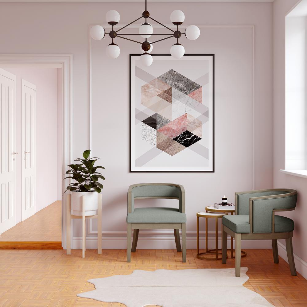 Strange Dorel Living Brunswick Sage Gray Walnut Rounded Back Accent Pdpeps Interior Chair Design Pdpepsorg