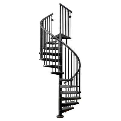 Eureka 63 in. Black Spiral Staircase Kit