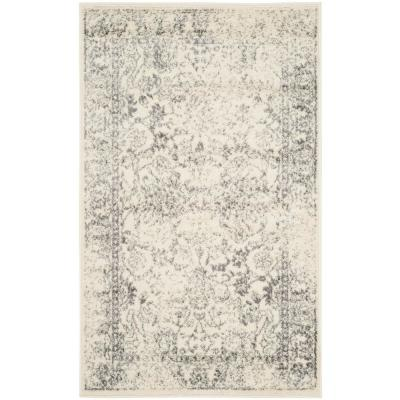 Adirondack Ivory/Silver 3 ft. x 5 ft. Area Rug