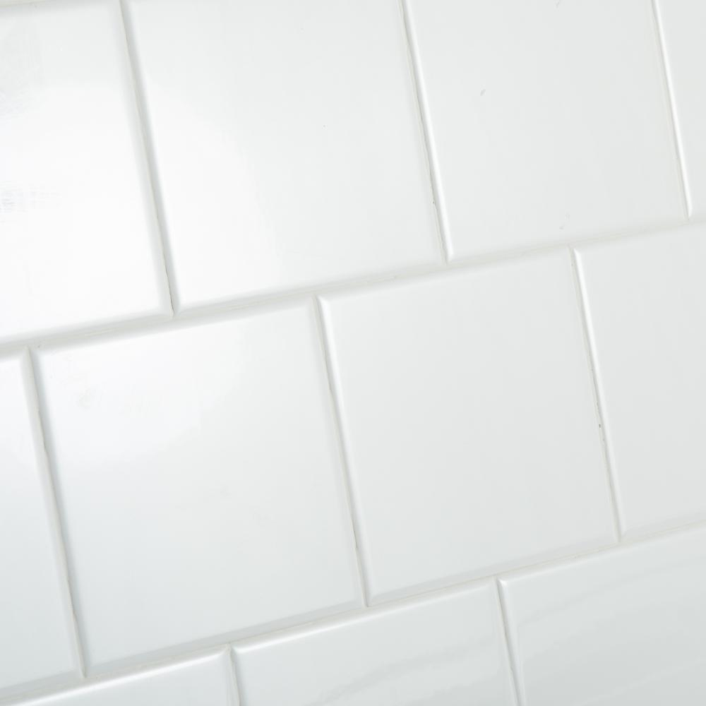 Daltile Restore Bright White 6 In X 6 In Ceramic Wall