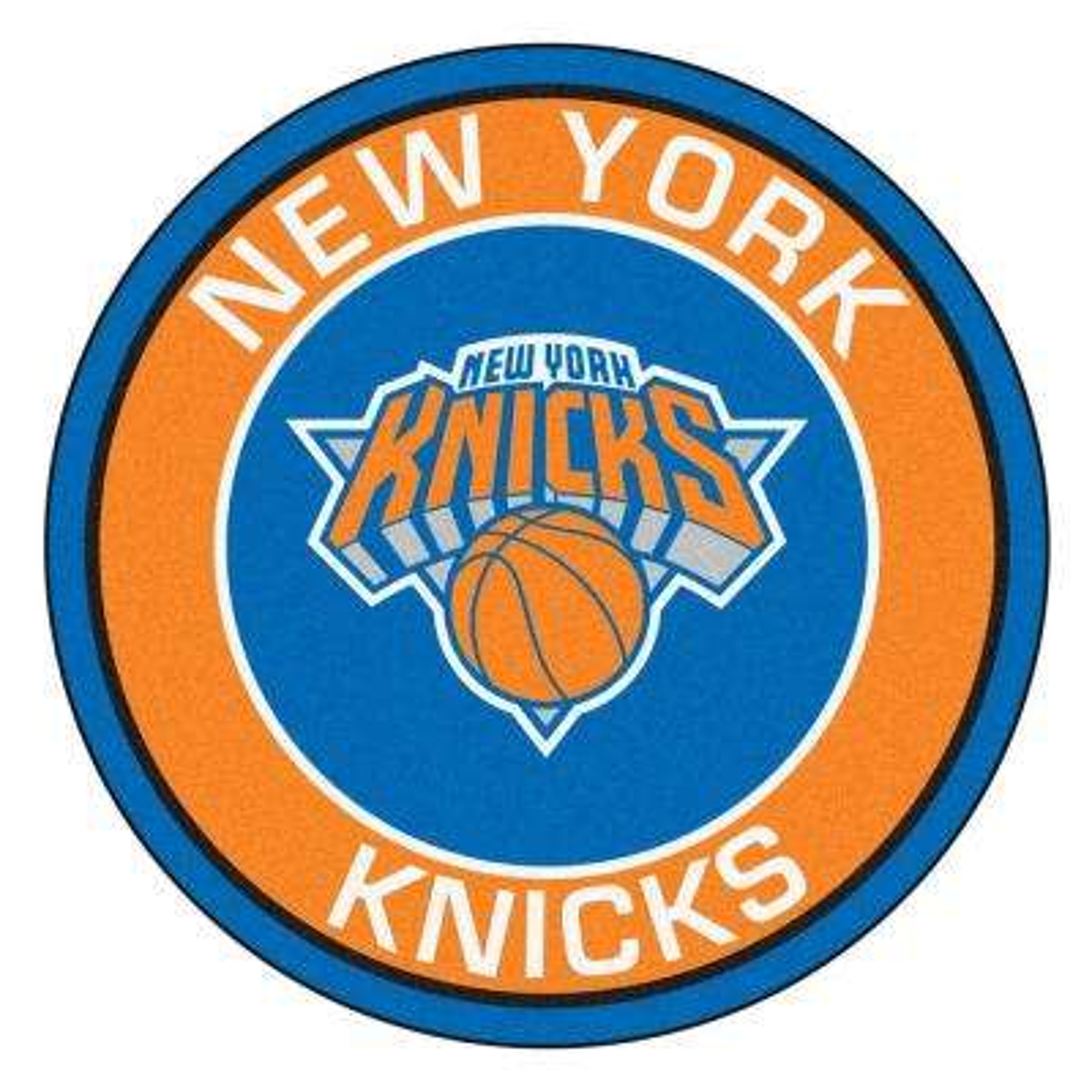 NBA New York Knicks Orange 2 ft. x 2 ft. Round Area Rug