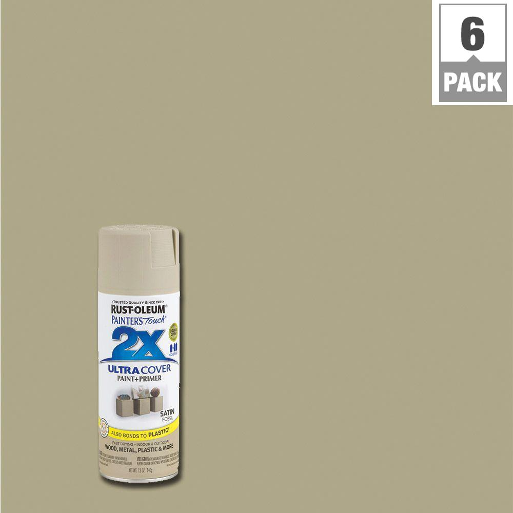 Rust oleum painter 39 s touch 2x 12 oz satin fossil general - What is satin paint ...