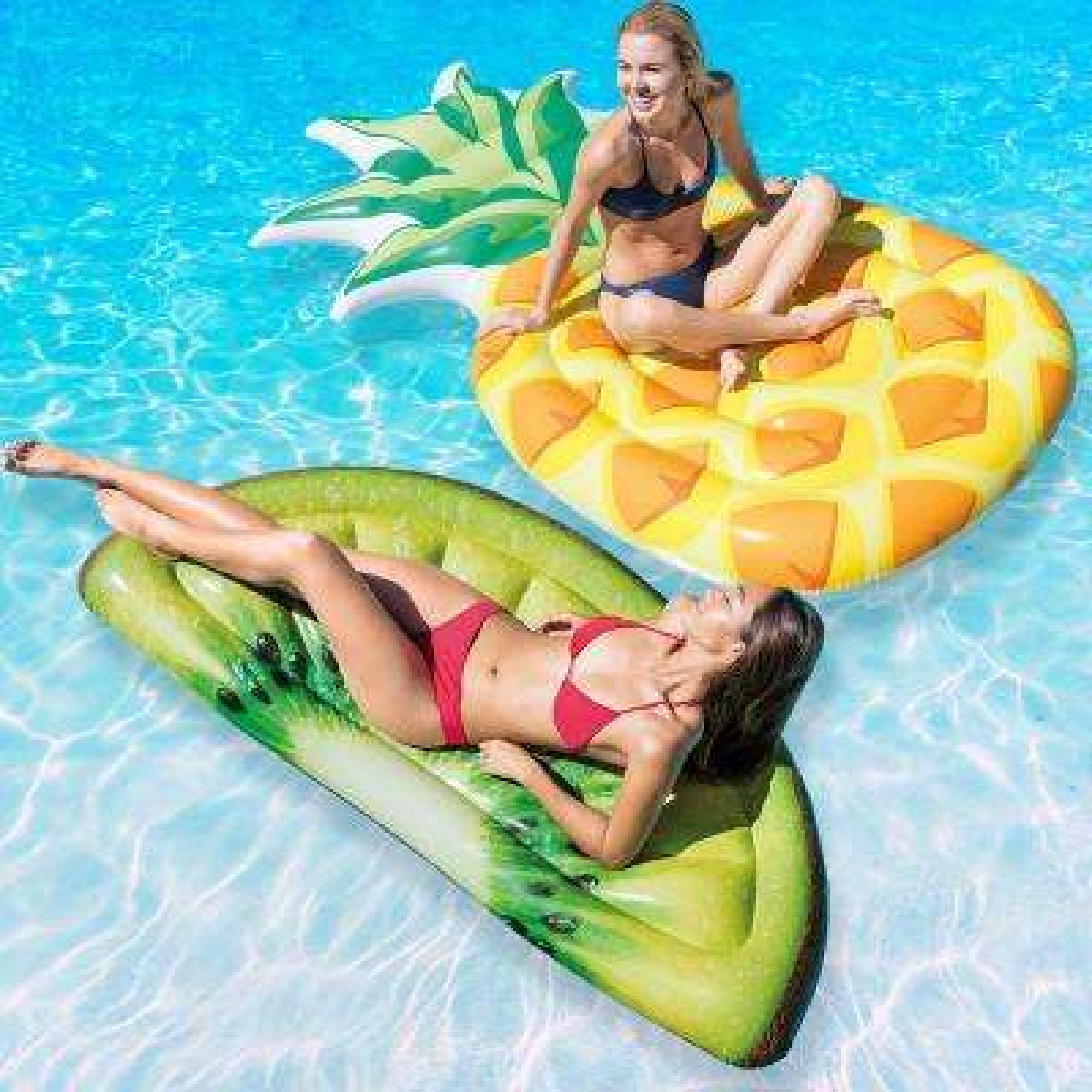 Pineapple and Kiwi Slice Mat Pool Float Combo Pack