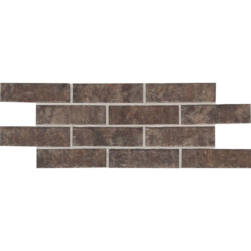 Daltile Union Square Cobble Brown 4 in. x 8 in. Ceramic Paver Floor and Wall Tile (8 sq. ft. / case)