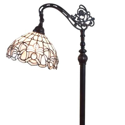 62 in. Tiffany Style Floral Design Floor Reading Lamp