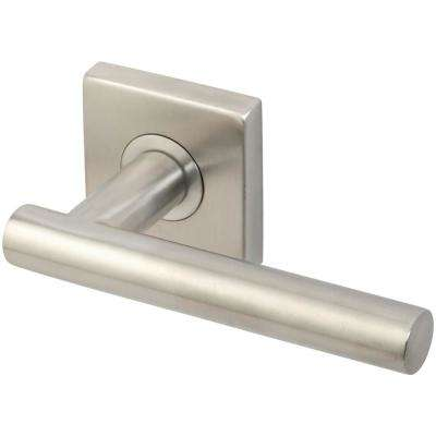 Copenhagen Series Square Stainless Steel Satin Privacy Bed/Bath Door Lever with 2-3/8 in. Backset