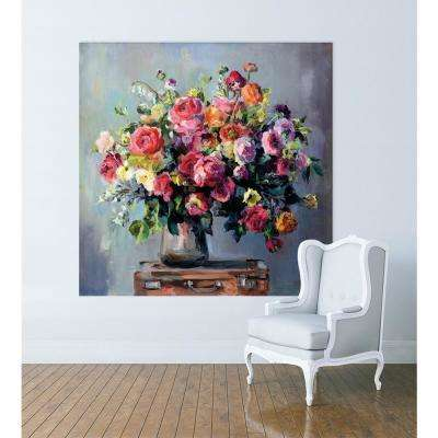 "72 in. x 72 in. ""Abundant Bouquet"" by Marilyn Hageman Printed Framed Canvas Wall Art"