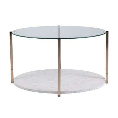 Starla Warm Gold Glam Cocktail Table