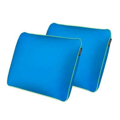 Standard All Position Memory Foam Fun Pillow - with Cool-to-the-Touch Cover - Cosmic Blue (Set of 2)