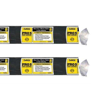 P6 6 ft. x 250 ft. 5 oz. Pro 5 Landscape Weed Barrier Fabric (2-Pack)