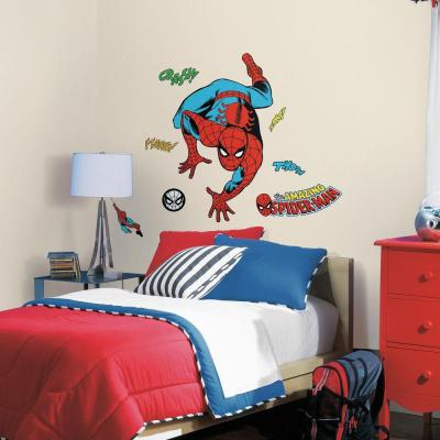 2.5 in. x 27 in. Classic Spider-Man Comic 23-Piece Peel and Stick Wall Decal