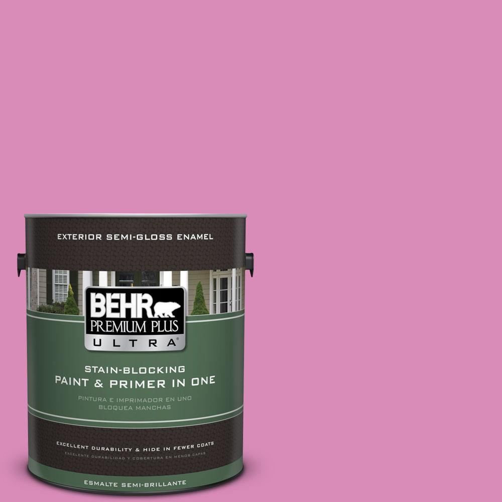 BEHR Premium Plus Ultra 1-gal. #P120-3 High Maintenance Semi-Gloss Enamel Exterior Paint