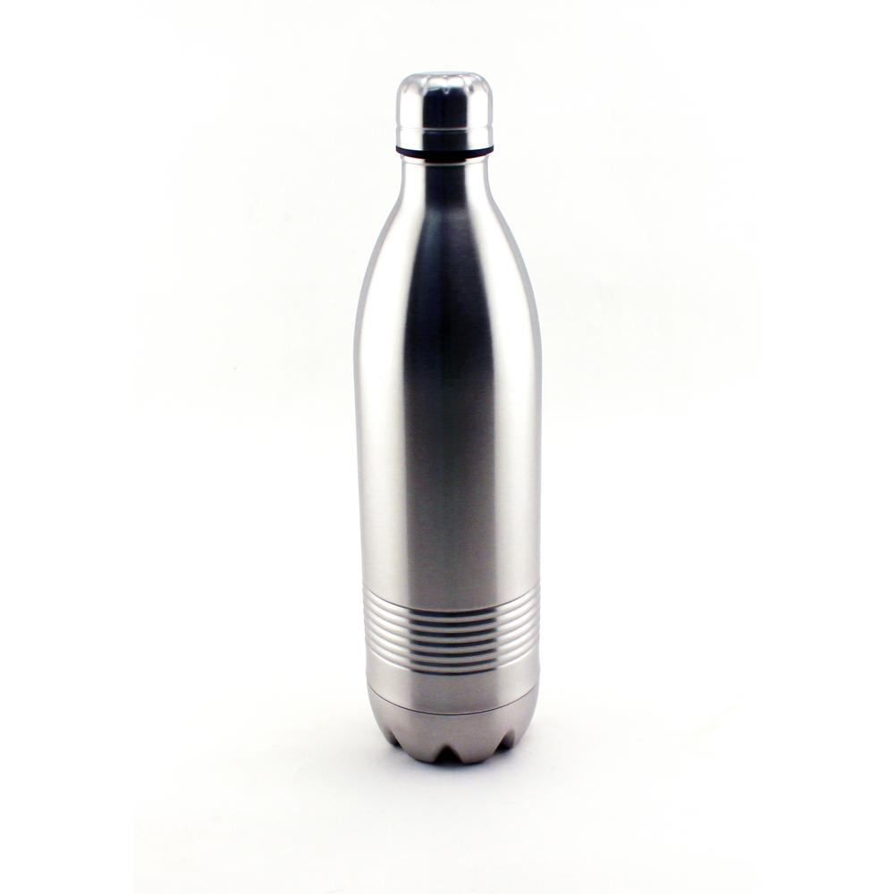 Studio 33.8 oz. Silver Stainless Steel Thermoses Double Wall Drink Bottle