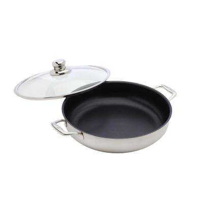 Non-Stick Clad 5.8 qt Non-Stick Chefpan with Lid