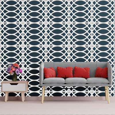 3/8 in. x 23-3/4 in. x 23-3/4 in. Large Montrose White Architectural Grade PVC Decorative Wall Panels