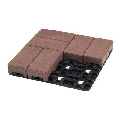 4 in. x 8 in. Village Composite Standard Paver Grid System (8 Pavers and 1 Grid)