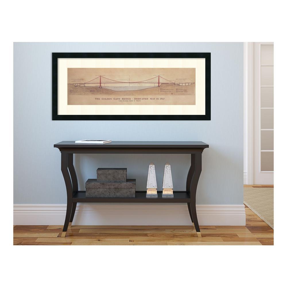 "40 in. H x 17 in. W ""Golden Gate Bridge"" by Craig S. Holmes Framed Art Print"