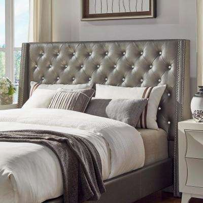 Venus Silver Metallic Queen Headboard