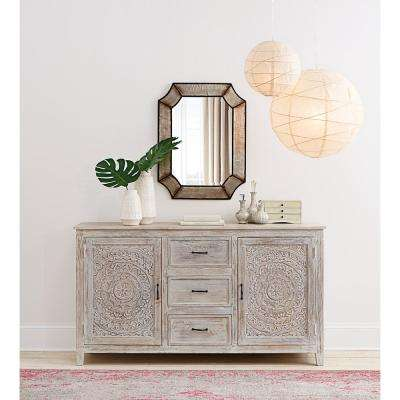 Chennai 3-Drawer whitewash Dresser