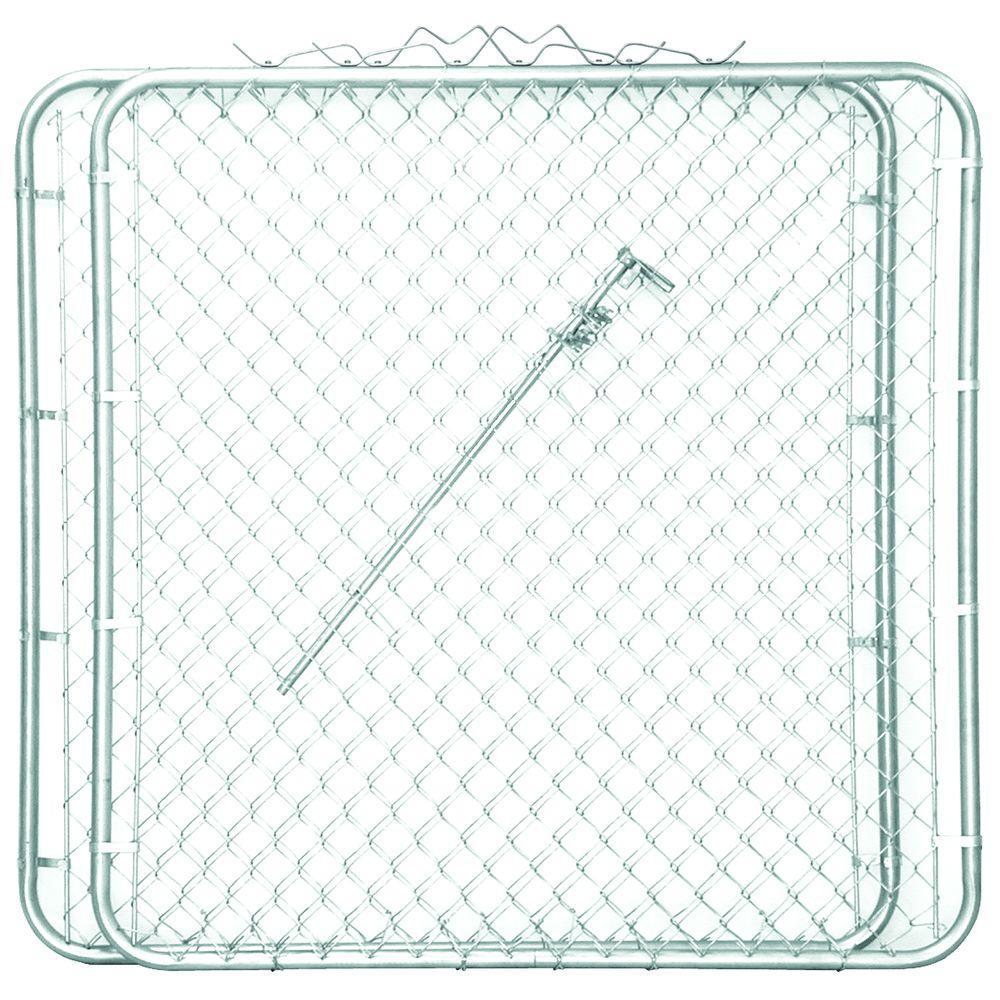 YARDGARD 10 ft. W x 5 ft. H 2 Panels Drive-Through Steel Gate