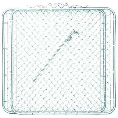 9-1/2 ft. W x 4 ft. H Metal Steel Drive-Through Chain Link Fence Gate (2-Panels)