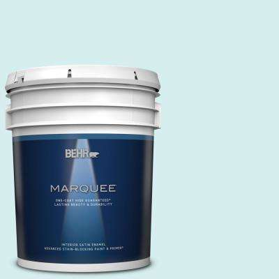 Behr Marquee 5 Gal 520a 1 Lakeside Mist Satin Enamel Interior Paint Primer 745005 The Home Depot