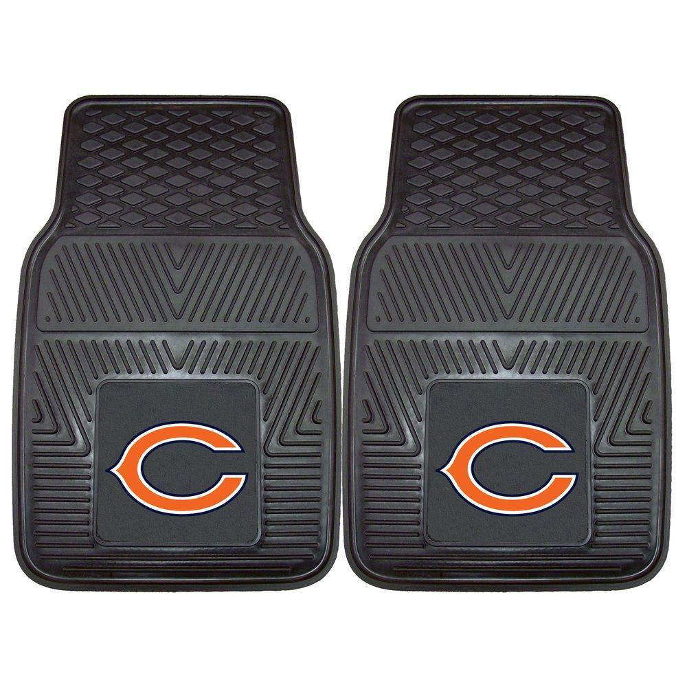FANMATS Chicago Bears 18 in. x 27 in. 2-Piece Heavy Duty Vinyl Car Mat