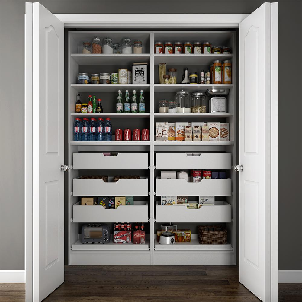 Modifi 60 In W X 15 In D X 84 In H Dual Wood Pantry