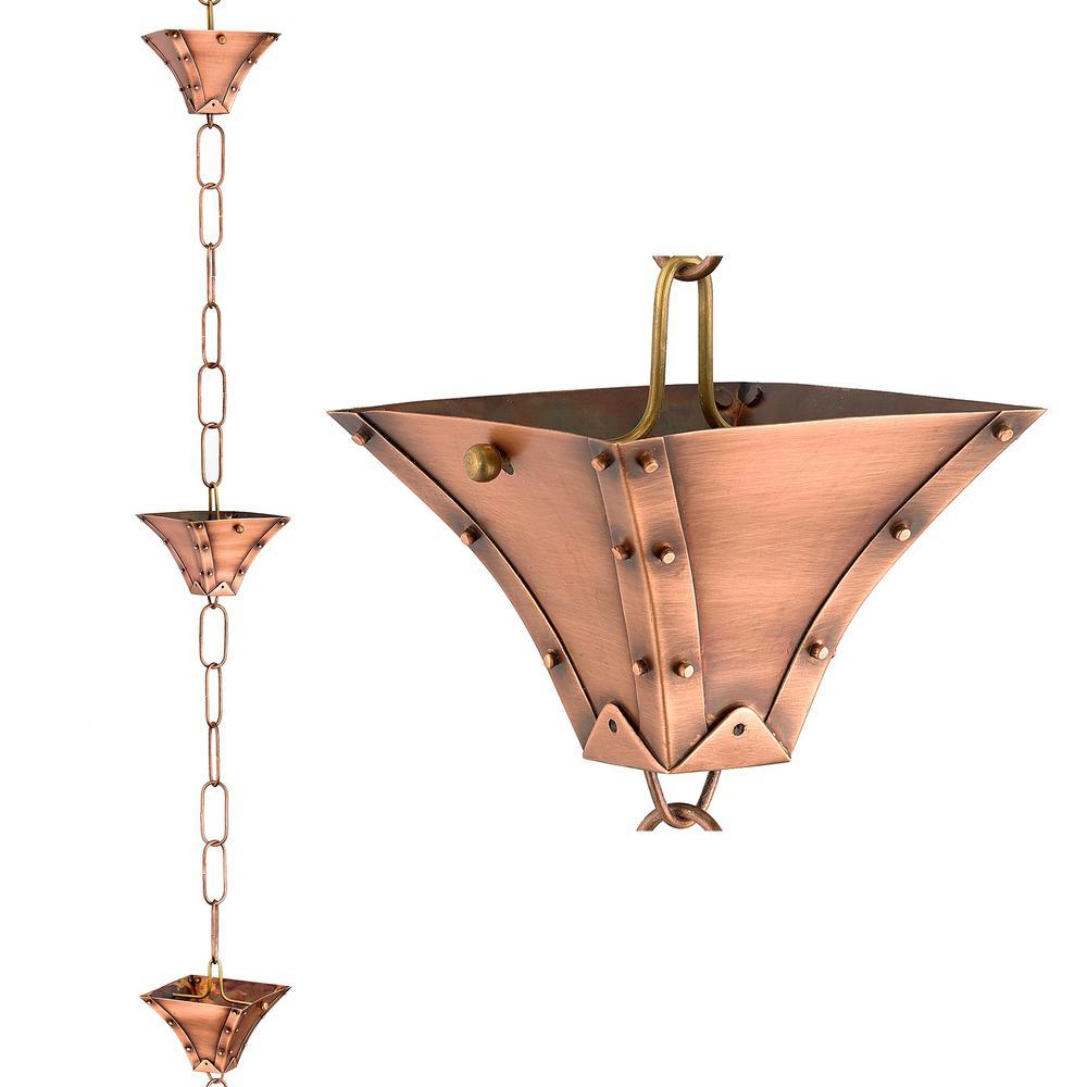 8.5 ft. Palazzo Pure Copper Rain Chain