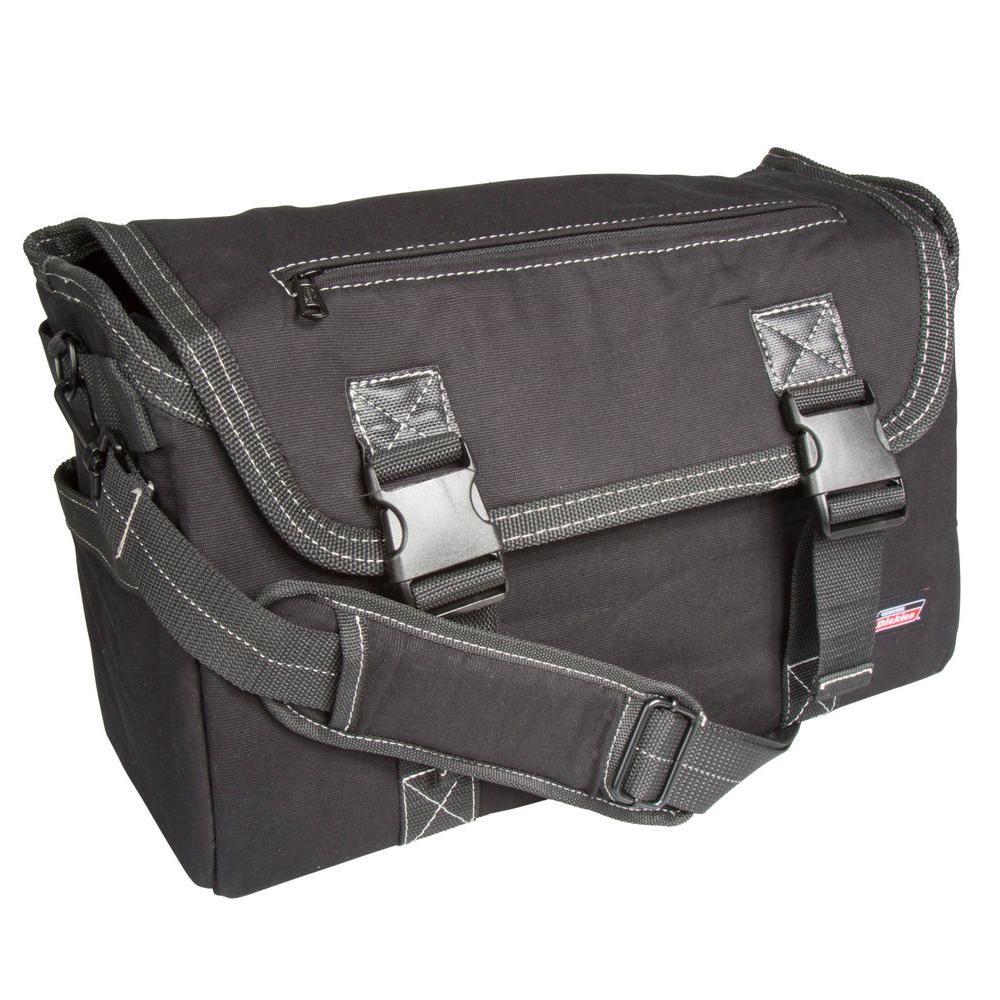16 in. Soft Sided Job Foreman's Tool Case Messenger Bag, Black