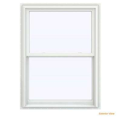35.5 in. x 53.5 in. V-2500 Series White Vinyl Double Hung Window with BetterVue Mesh Screen
