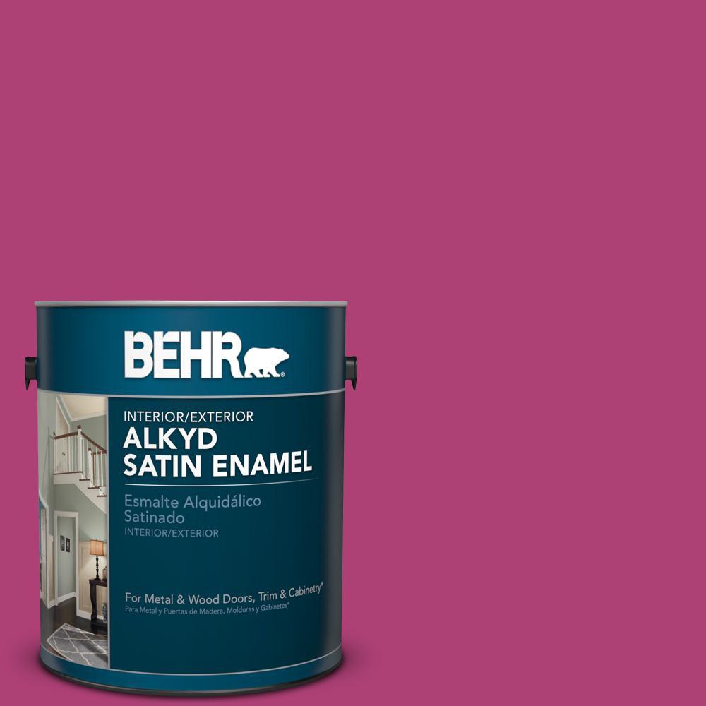 100b 7 Hot Pink Satin Enamel Alkyd Interior Exterior Paint