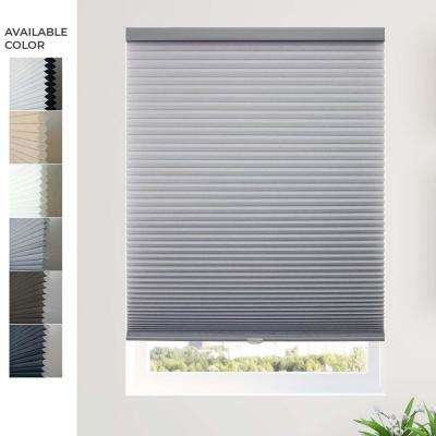 Cut-to-Width Morning Pebble (Privacy and Light Filtering) Cordless Cellular Shade - 72 in. W x 64 in. L