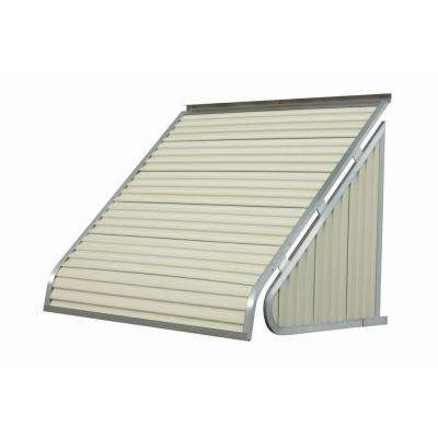 7 ft. 3500 Series Aluminum Window Awning (28 in. H x 24 in. D) in Almond