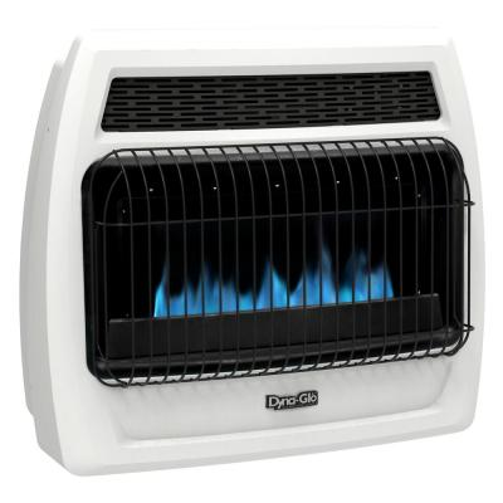 30,000 BTU Blue Flame Vent Free Liquid Propane Thermostatic Wall Heater