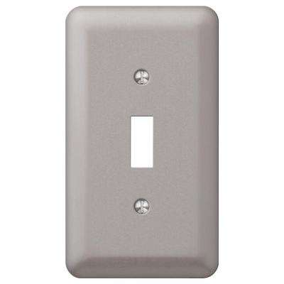 Declan 1-Toggle Wall Plate - Pewter