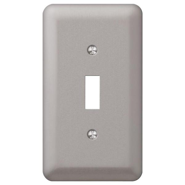 Declan 1 Gang Toggle Steel Wall Plate - Pewter
