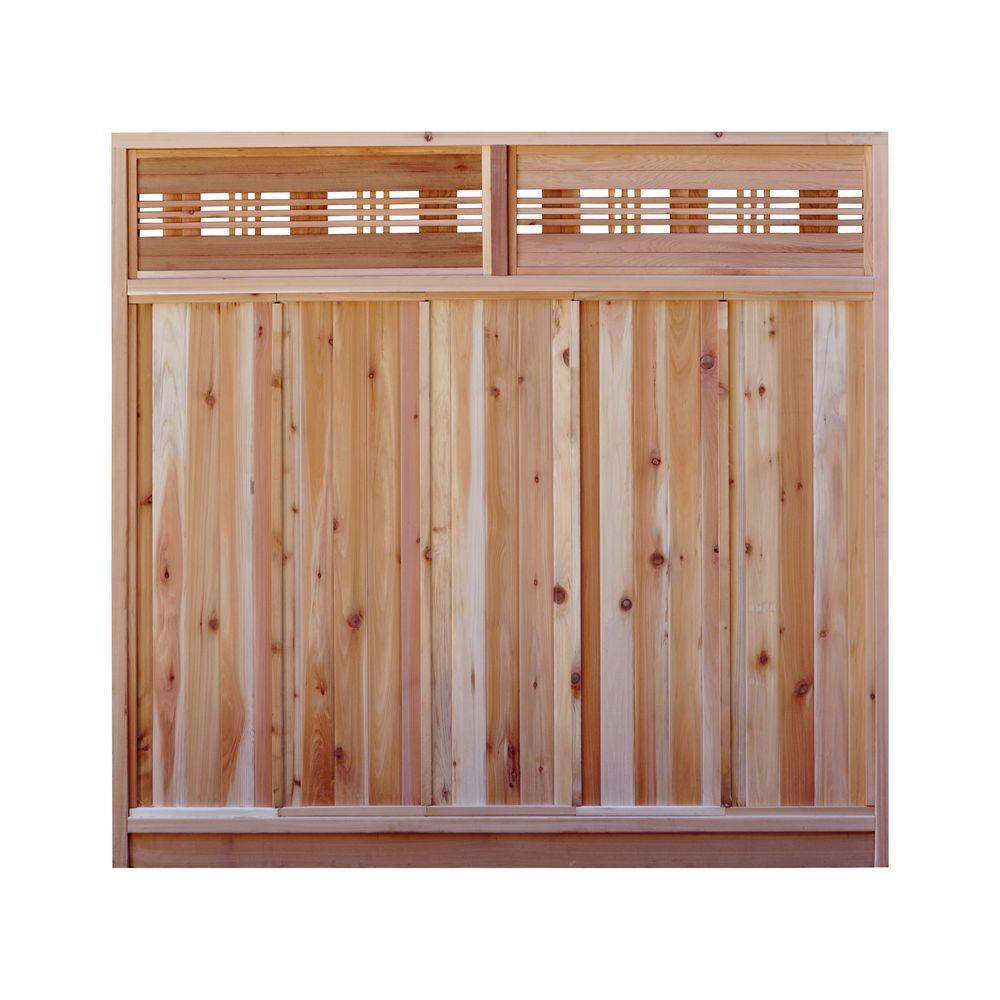 Signature Development 6 ft. H x 6 ft. W Western Red Cedar Horizontal Lattice Top Fence Panel Kit
