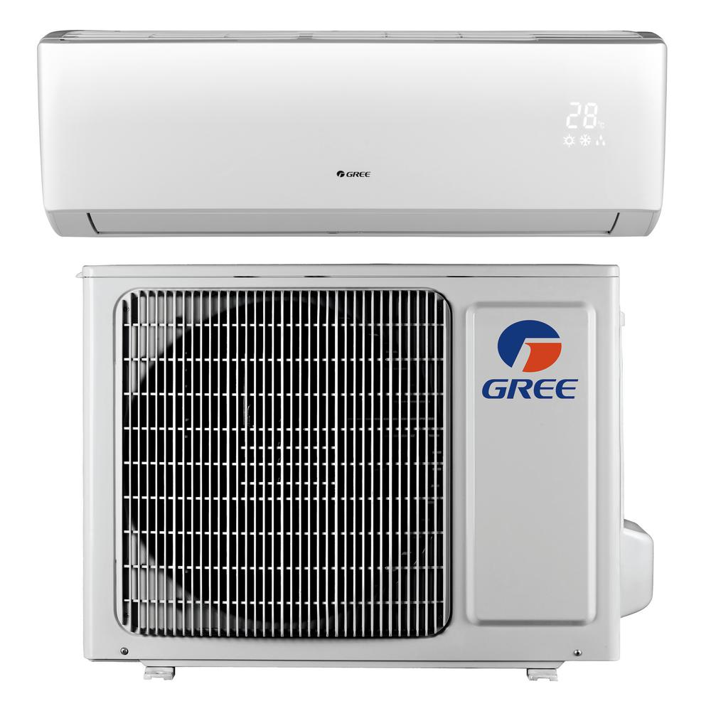 GREE LIVO 9,000 BTU 3/4 Ton Ductless Mini Split Air Conditioner with  Inverter, Heat, Remote 115V/60Hz
