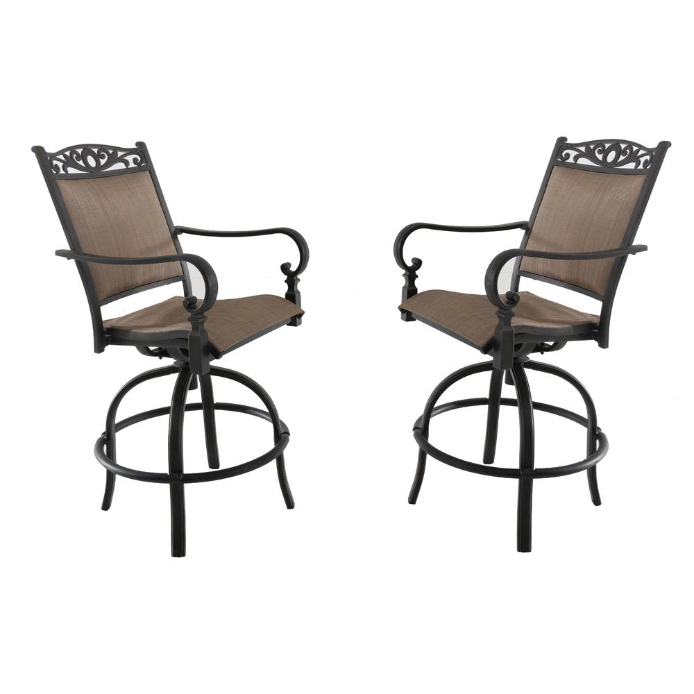 Tall Dining Chairs: Royal Garden Tuscan Estate Swivel Aluminum Outdoor High