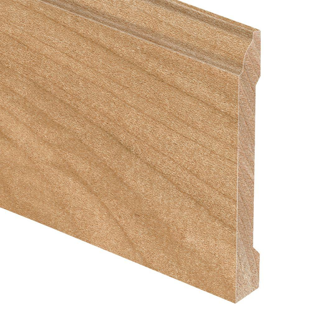 Zamma Maple Natural 5/8 in. Thick x 5-1/4 in. Wide x 94 in. Length Hardwood Base Molding