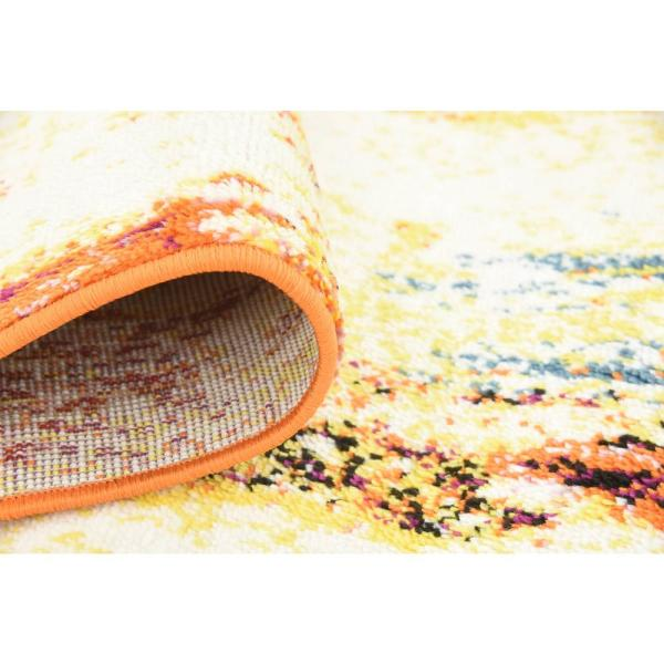 Unique Loom Metro Cream 2 X 13 Runner Rug 3133839 The Home Depot