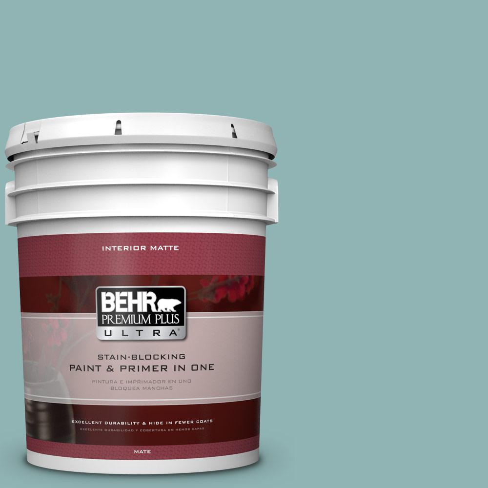 5 gal. #BIC-24 Artful Aqua Matte Interior Paint