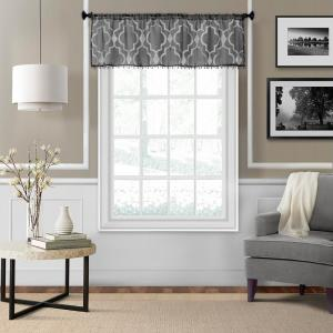 Montego 52 inch W x 15 inch L Ironwork Sheer Window Valance in Black by