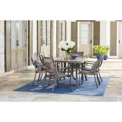 Wilshire Estates 7-Piece Aluminum Sunbrella  Sling Outdoor Dining Set